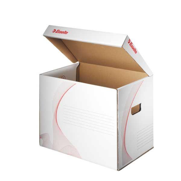 29cc6ae09 Archívna krabica sklápacím horným vekom biela/červená Esselte ...